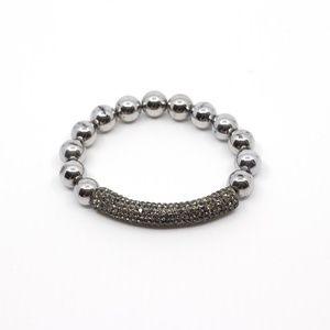 Jewelry - Beautiful pave cz beaded bracelet